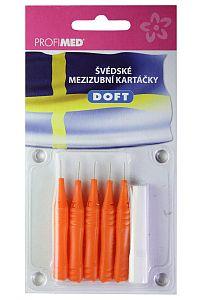 DOFT mezizubní kartáčky 0,4 oranžové, 5 ks