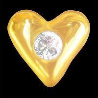 IZI diamant srdce 0,01ct žluté zlato