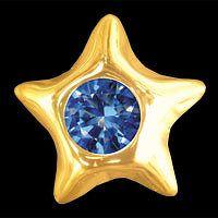 IZI hvězda se safírem žluté zlato