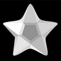 IZI Sparkle Hvězda s briliantovým brusem bílá