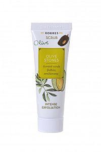 KORRES Beauty Shots - Olive Stones Scrub Basic Line, čisticí peeling, 18 ml