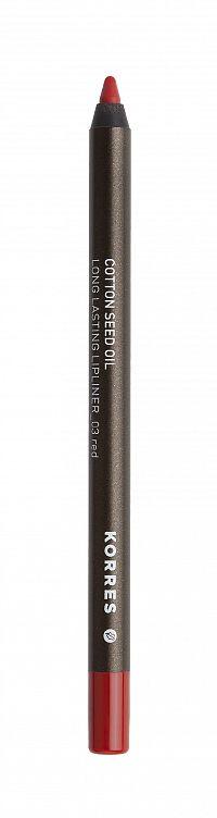 Korres Cotton Seed Oil konturovací tužka na rty 03 Red 1,2 g