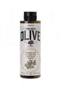KORRES Pure Greek Olive, sprchový gel s vůní cedrového dřeva, 250 ml