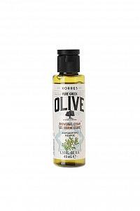 KORRES Pure Greek Olive, sprchový gel s vůní cedrového dřeva, cestovní balení, 40 ml