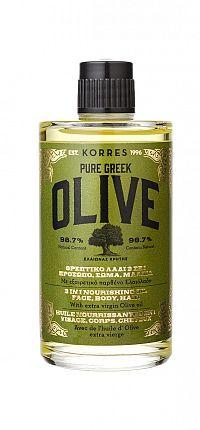 KORRES PURE GREEK OLIVE - vyživující olej 3v1, 100 ml