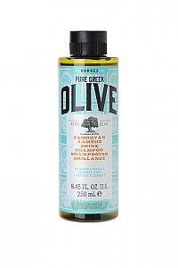 KORRES Shampoo Olive Shine - šampon pro normální vlasy, 250 ml