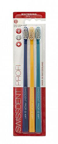 SWISSDENT WHITENING zubní kartáčky Soft (2+1 zdarma), ST. MORITZ
