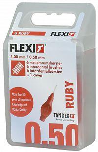 Tandex Flexi mezizubní kartáčky červené 0,5 mm, 6 ks