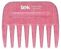 Tek AFRO COMB hřeben s širokými zuby růžový