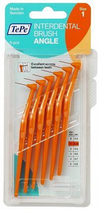 TePe Angle mezizubní kartáčky 0,45 mm, oranžové, 6 ks