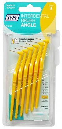 TePe Angle mezizubní kartáčky 0,7 mm, žluté, 6 ks