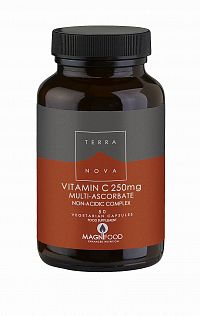Terranova Vitamín C, multi-askorbát komplex (nekyselý) 50 tbl.