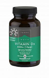 Terranova vitamín D3, 400 IU (10 ug) pro děti od 4 let 50 tbl.