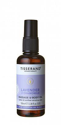 Tisserand Lavender luxusní relaxační tělový a masážní olej s levandulí a heřmánkem, 100 ml