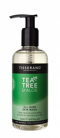 Tisserand Tea Tree & Aloe Vera čisticí gel pro pokožku celého těla, 250 ml