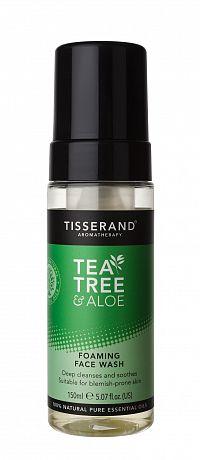 Tisserand Tea Tree & Aloe Vera čistící pěna na obličej, 150 ml