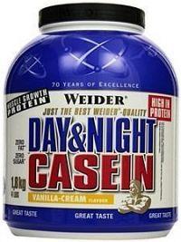 100% Casein, Weider, 1800 g, Vanilka