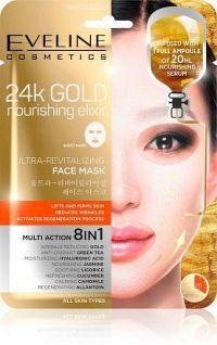 24k Gold - Ultra oživující vyživující pleťová textilní maska s 24k zlatem