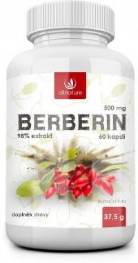 Allnature Berberin Extrakt 98% 500 mg 60 kapslí