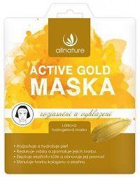Allnature Maska Active Gold rozjasnění a vyhlazení 26 g