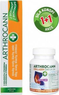 Arthrocann gel 75ml+Arthro.Collag.Omega3-6F tbl.60