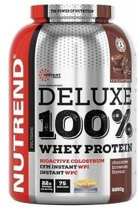 DELUXE 100% WHEY, 2250 g, jahodový cheesecake