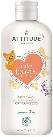 Dětská pěna do koupele ATTITUDE Baby leaves s vůní hruškové šťávy 473 ml