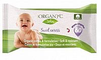 Dětské čistící ubrousky Organyc z biobavlny 60ks