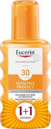 EUCERIN SUN Transparentní sprej SPF30 1+1 ZDARMA