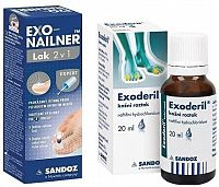 Exonailner Lak 2v1 5ml + Exoderil 20ml/200mg