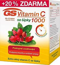 GS Vitamin C1000 + šípky tbl.50+10