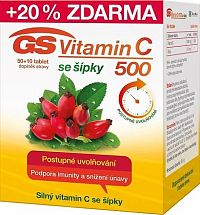 GS Vitamin C500 + šípky tbl.50+10