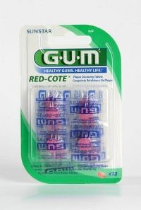 GUM tablety Red-Cote k indikaci plaku 12ks B824MA
