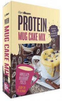 GymBeam Protein Mug Cake Mix 500 g vanilla with blueberry pieces