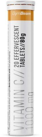 GymBeam Vitamín C 1000 mg lemon - 20 tab