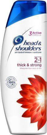 H&S šampón 2v1 Thick & Strong 360ml