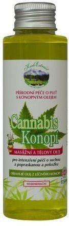 Herb Extract Masážní tělový olej – Konopí 100ml