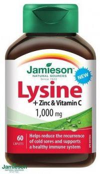 JAMIESON Lysin 1000mg se zinkem a vit.C tbl.60