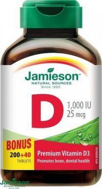JAMIESON Vitamín D3 1000mcg tbl.240