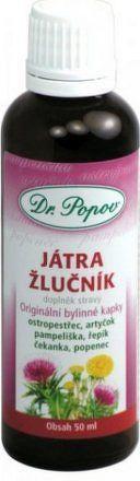 Játra-žlučník Bylinné kapky Dr.Popov 50ml