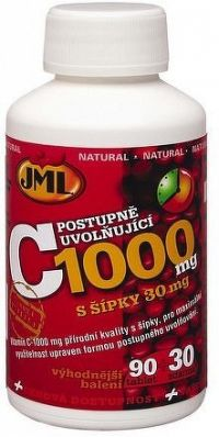 JML Vitamin C tbl.120 x 1000mg post. uvol. s šípky