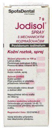 Jodisol spray s mechanickým rozprašovačem drm.spr.sol.1 x 7g