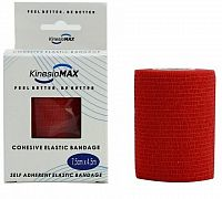 KinesioMAX Cohesive elast.samofix.7.5cmx4.5m červ.