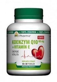 Koenzym Q10 Forte 60mg+Vitamin E tob.60