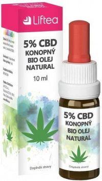LIFTEA 5% CBD konopný olej 10ml