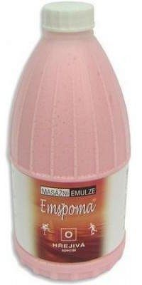 Masážní emulze Emspoma hřejivá O 500ml (růžová)