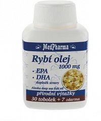 MedPharma Rybí olej 1000mg+EPA+DHA tob.37