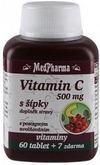 MedPharma Vitamin C 500mg s šípky tbl.67 prod.úč.