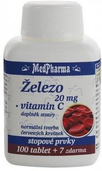 MedPharma Železo 20mg+vitamín C tbl.107