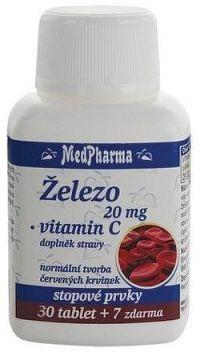 MedPharma Železo 20mg+vitamín C tbl.37